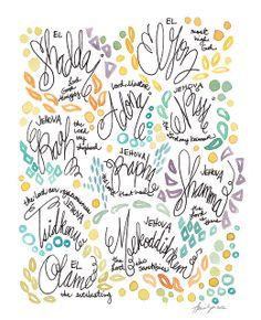 Names of God sketchbook by Watercolor Devo, via Flickr