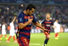 Manchester United target Pedro scored the winner for Barcelona as they beat Sevilla to win the UEFA Super Cup on Tuesday night