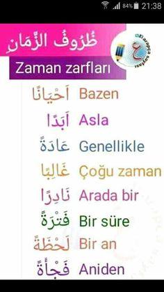 Learn Turkish Language, Arabic Language, Turkish Lessons, Learn Arabic Alphabet, Learning Arabic, Sweet Words, Photo Quotes, Kids Education, Beautiful Words