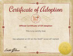 ... shelf certificates on Pinterest | Elf on the shelf, Birth certificate
