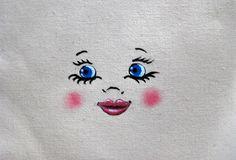 Modèle de tête de poupée yeux bleus création de poupée en