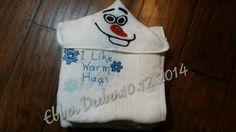 Snowman Hooded Towel :: Rumpshakers In-stock Store