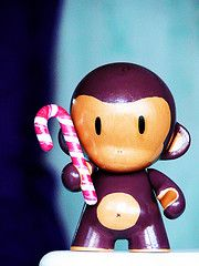 cute, simple monkey face for scarf