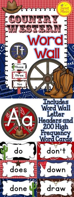 Yeehaw! Decorate your classroom this year with this adorable Country Western themed decor. These Word Wall posters are sold individually and as part of a bundled set.$