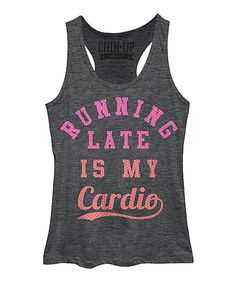 Chin Up Apparel Charcoal Heather Cardio Loose-Fit Racerback Tank | zulily