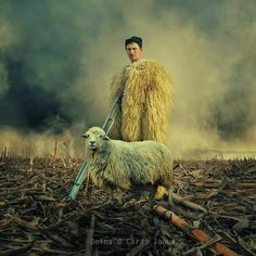 """""""Doina""""-- Balad of a shepard, essential myth in Romanian folklore, that of Balada Miorita. Stunning digital art by Caras Ionut, Learn Photoshop Online, Ps Tutorials, Places Worth Visiting, The Shepherd, Photo Manipulation, Romania, Pixel Art, Amazing Photography, Sheep"""