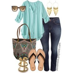 """Polyvore Summer Plus Size 