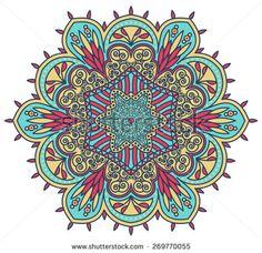 A set of beautiful mandalas. Round ornamental pattern. - stock vector