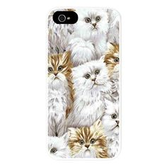 Fluffy Cats iPhone 5/5S Snap Case on CafePress.com