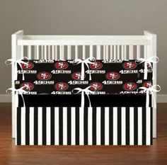 San Francisco Niners 49ers Theme Inspired Crib Bedding *more choices*
