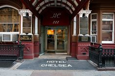 Front entrance of Hotel Chelsea New York Chelsea New York, Chelsea Hotel, Nyc Hotels, New York Hotels, Long Gone, Front Entrances, Rare Pictures, New England, Old School
