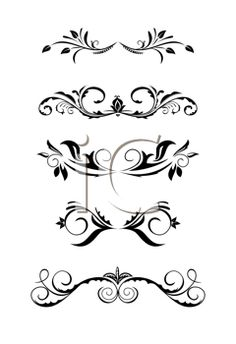 Illustration vintage borders, design elements - vector (vector.com)