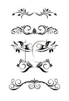 illustration vintage borders design elements vector