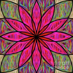 Flower on Rainbow Mandala by Kaye Menner Duvet Cover for Sale by Kaye Menner Wall Art Prints, Fine Art Prints, Canvas Prints, Art Sites, Abstract Photography, Fine Art America, Photo Art, Duvet Covers, Art Projects