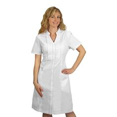 Pinning Dress??  I think it's funny the dress is labeled as scrubs. Right... Barco Women's 2-Pocket Button-Front Scrub Dress