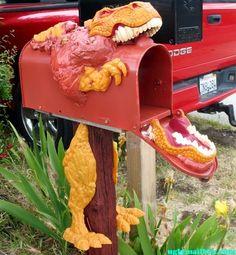 T-Rex mailbox