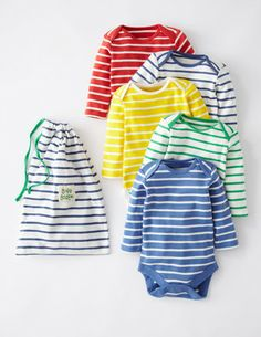 5 Pack Onesies - French Stripe