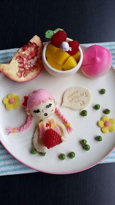 сандвич кукла от хляб и шоколад