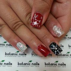Tis the season Christmas Nails, Christmas Time, Holiday, Botanic Nails, Gel Nails, Nail Polish, Gel Nail Designs, Nails Design, Finger Nail Art