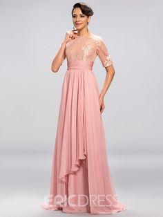 Classy Half Sleeves A Line Floor-Length Evening Dress Tulip Pants, Evening Dresses, Formal Dresses, Rich Girl, Bridesmaid Dresses, Wedding Dresses, Half Sleeves, Classy, Elegant