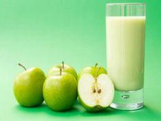 Sumo de maçãs verdes