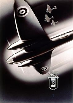 Rolls Royce Aircrafts poster