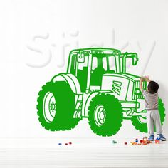 Wall Sticker TRACTOR by Sticky!!!