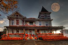 Pumpkin House in Kenova, WV. Over 3000 pumpkins- by Roy Green