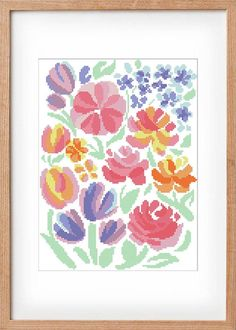 BOGO FREE! unique, beauty, flowers, wall art, roses, colorful,modern design, modern cross stitch pattern, romantic, wall decor, pastel color Modern Cross Stitch Patterns, Cross Stitch Designs, Simple Cross Stitch, Wall Decor, Wall Art, Digital Pattern, Pastel Colors, Modern Design, Projects To Try