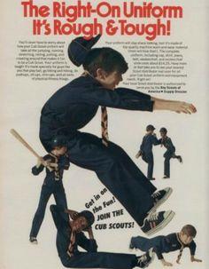 Blue Boy Scout Uniform. ('Boy's Life' magazine, Jan. 1974)