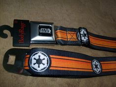 STAR WARS EMPIRE LOGO ORANGE SEATBELT STYLE ADJUSTABLE ADULT OSFM BELT SPENCER #BuckleDown #seatbelt