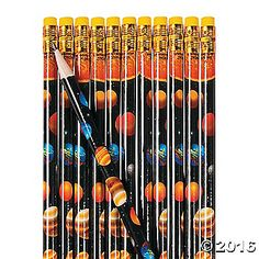 Celebrate our solar system with these cute pencils! They're perfect classroom supplies to use as learning incentives when you teach lessons plans about .