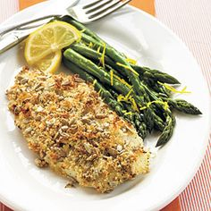 When breading the fish, use one hand for the dry mixture and the other hand for the wet, so you don't lose any panko crumbs. Serve with steamed asparagus tossed with grated lemon rind.Prep: 8 minutes; Cook: 10 minutes; Other: 10 minutes I may try another white fish other than this that I've never had!