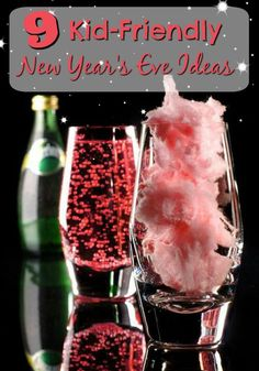 9 Kid-Friendly New Year's Eve Ideas - The Realistic Mama Check out these 9 amazing Kid-Friendly New Year's Eve ideas to keep the fun going all night long! DIY Kid Drink Bar, so they can toast in the New Year with the adults and many more great ideas! New Years Eve Snacks, New Year's Snacks, New Years Eve Drinks, New Year's Drinks, New Years Eve Dessert, Kid Drinks, Snacks Für Party, Party Drinks, Food For New Years Eve
