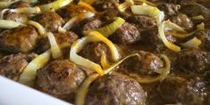 On craque pour les boulettes porc et boeuf dans une sauce au sirop d'érable et moutarde - Recettes - Ma Fourchette Meatball Recipes, French Food, Sausage, Food And Drink, Pork, Pasta, Favorite Recipes, Beef, Cooking