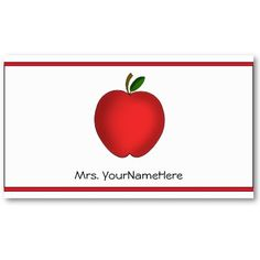 Apple Teacher Business Card