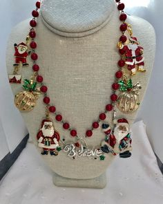 Charm/Charms pendant Elephant bronze jewellery for making and creation This material is good for making jewellery. Christmas Necklace, Christmas Jewelry, Red Christmas, Vintage Christmas, Christmas Ideas, Christmas Crafts, Christmas Things, Holiday Fun, Christmas Ornament
