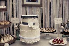 super cute idea for a cake table