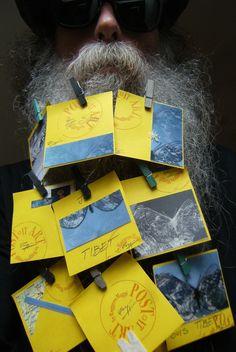 BEARD GALLERY - Opere di Ruggero Maggi installate sulla mia barba (Galleria Pensile)
