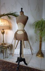 antique wire hoop skirt 1867