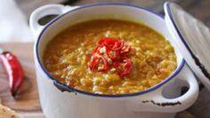 Retrouvez la recette de Farida : Dahl indien et cheese-naan express