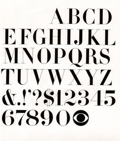 CBS Typeface. YUM!