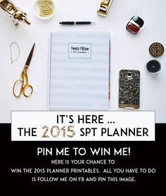 Introducing the all new 2015 SPT Planner Printables. Visit my shop on Etsy to get your Instant download today!