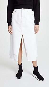 New SJYP Unbalanced Bottom Cut Denim Skirt online. Find the perfect Opening Ceremony Clothing from top store. Sku yxrt61009lloj51695
