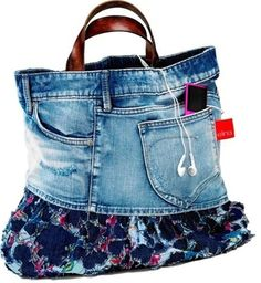 sewing ideas on pinterest | Elna - United States - Sewing ideas - Sewing - DENIM BAG - Click image ...