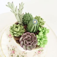 Handmade cupcake succulent toppers by Sweet'n'pretty, Australia  www.sweetnpretty.com.au