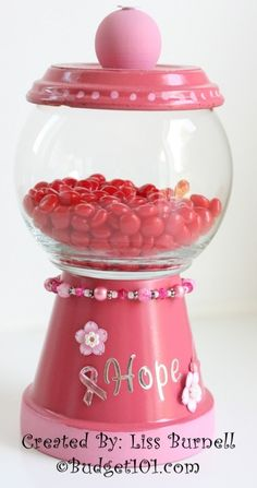 Breast Cancer Candy Dish Support Craft- Make one for a lady in your life