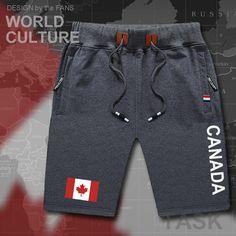 Canada Canadians mens shorts beach new men's board shorts flag workout zipper pocket sweat bodybuilding clothing brand CA CAN Sweat Workout, Workout Shorts, Fashion Pants, Mens Fashion, Fashion Trends, Bodybuilding Clothing, A Line Mini Skirt, Mens Boardshorts, Mens Joggers