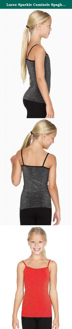 Lurex Sparkle Camisole Spaghetti Metallic Seamless Tank Kids Girls Youth Onesize (red). Add a little sparkle to a child's wardrobe with our kid's size version of the seamless Sparkle Lurex camisole. Our famously soft, stretchy fabric with metallic yarns. One Size Fits Most.