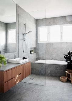 remodeling ideas bathroomisunquestionably important for your home. Whether you choose the bathroom ideas remodel or bathroom ideas remodel, you will create the best dyi bathroom remodel for your own life. Dyi Bathroom Remodel, Bathroom Renos, Bathroom Flooring, Bathroom Renovations, Bathroom Grey, Vanity Bathroom, Wood Vanity, Bathroom Large Tiles, Wet Room Bathroom
